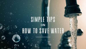Simple Tips on How To Save Water